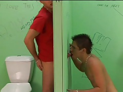Gloryhole blowjob buddies have anal sex too tubes