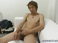 Cute solo japanese mature guy jerks off cock tubes