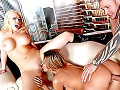 Busty babe threesome fuck scene tubes