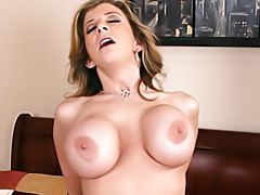 Busty mom riding tubes