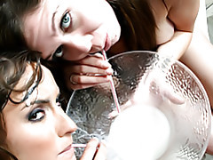 Ladies drinking cum tubes