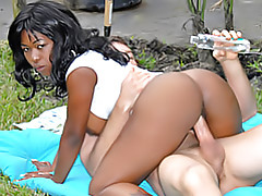 Black chick fucked outdoors tubes