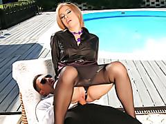 Slut sits on cock! tubes