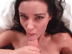 Close up blowjob with a cumshot in her mouth tubes