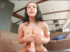 Beautiful kyra hot fucks dildo deep into her cunt tubes