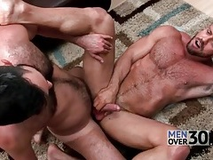 Great anal sex with two hairy guys tubes