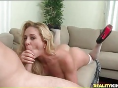 Blonde mommy in heels and stockings fucked tubes