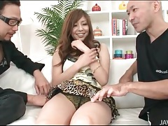 Japanese tits sucked on and pussy fingered tubes