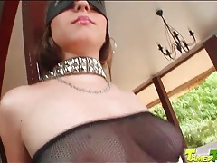Sexy bondage and fishnets on beauty tubes
