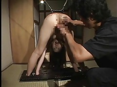 Hot wax slowly drips on ass of japanese girl tubes
