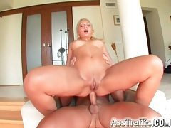 Blonde gets naked for him to have anal sex tubes