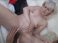 Mature lesbian and sexy brunette get busy tubes