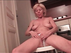 Fit granny with incredible tits teases her body tubes