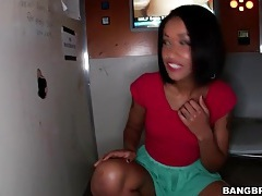 Skin diamond blows big cock at gloryhole tubes
