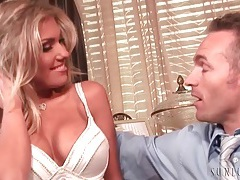 Blonde aubrey addams kisses her man tubes