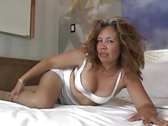 Sexy solo mature teases in pantyhose tubes