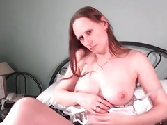 Sexy mature babe models boots and lingerie tubes
