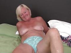 Cute freckled mature blonde masturbates tubes