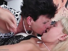 Mature lesbian seduces a beautiful young lady tubes