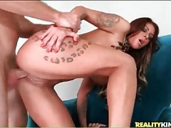Hot bitch with tattoos bent over and fucked tubes