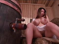 Tigerr benson fondles her tits in close up tubes