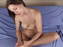 Pantyhose footjob from sexy lelu love tubes