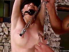 Tit and pussy torture for sexy bound girl tubes