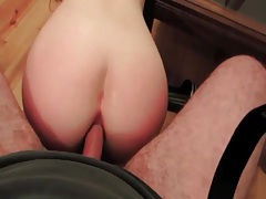 Naughty amateur wants his dick in her ass tubes