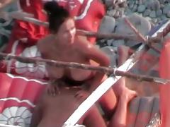 Busty babe strapon fucks her man in voyeur porn tubes