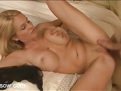 Milf spits on his dick and gets fucked hardcore tubes