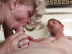Glamorous mature sucks his hard dick lustily tubes