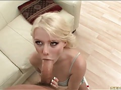 Skinny cutie sucks big cock that bangs her hot hole tubes