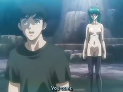 Hentai group sex in a cave with hot sucking tubes
