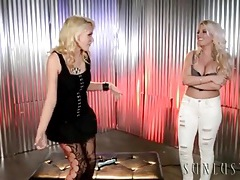 Stunningly hot bleach blondes fool around tubes