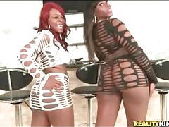 Black girls in slutty outfits shake their big asses tubes