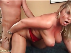 Chubby mature all sweaty in doggystyle fuck tubes