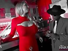 Lexi lowe sucks black cock in bar bathroom tubes
