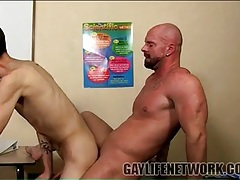Burly teacher fucks twink student from behind tubes