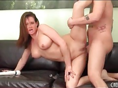 Curvy babe tory lane lets him fuck her holes tubes