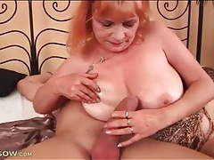 Voluptuous mature redhead rides a thick cock tubes