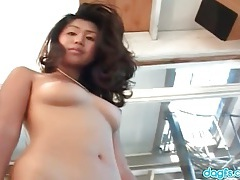 Huge black dick in her wet asian mouth tubes