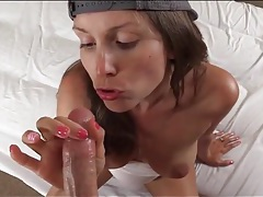 Sporty outfit on pov cocksucker lelu love tubes