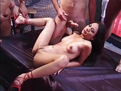Big group of dudes gangbang a skinny asian girl tubes