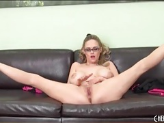 Curvy katie kox strips and bounces her tits tubes