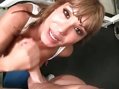 Ava devine sucks cock and licks asshole sloppily tubes
