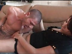 Tranny passionately kisses her man tubes