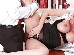 Secretary brooklyn chase fucked from behind tubes
