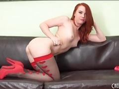Redhead dani jensen looks utterly flawless tubes