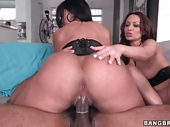 Latina ladies with huge asses ride bbc tubes