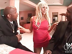 Slutty samantha sin sucks two black cocks tubes